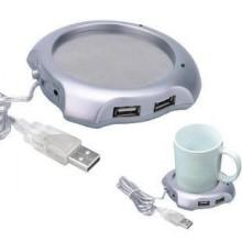 Extensão com 4 Portas USB e Placa de Aquecimento para Chávena