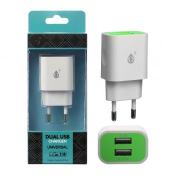 Carregador De Tomada Com 2 Portas USB 2.1A