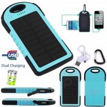 Power Bank Solar À Prova de Água 5000mAh Dual USB