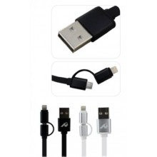 Cabo Micro USB Com Adaptador Para iPhone 5 / 6